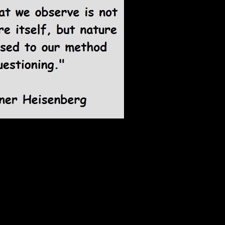 What we observe is not nature itself..