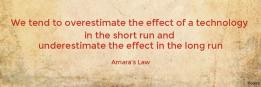 We tend to overestimate the effect of a technology  in the short run and  underestimate the effect in the long run