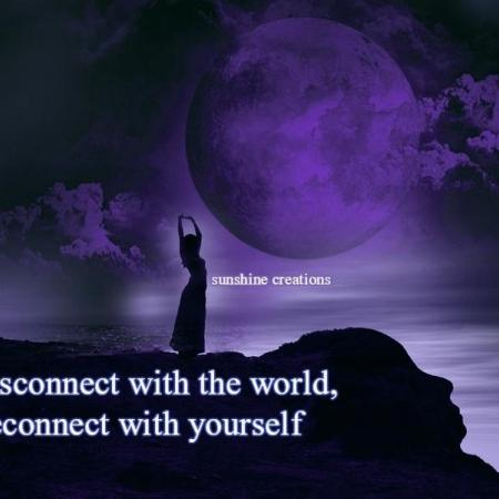 Disconnect with the world. Reconnect with yourself.