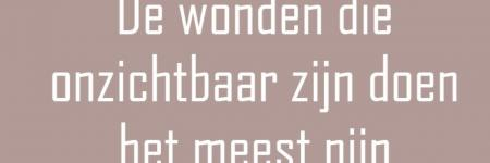Re: De wonden...