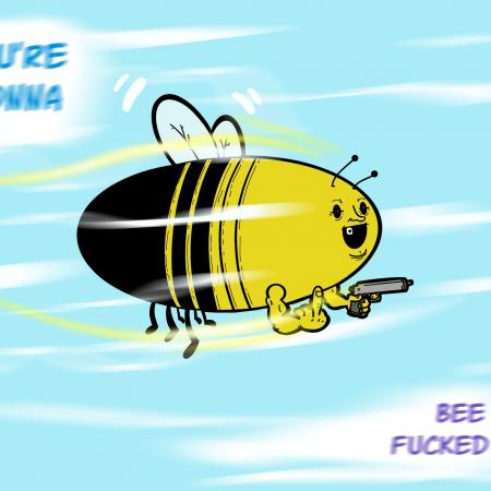 Warning! Watch out for this bee.