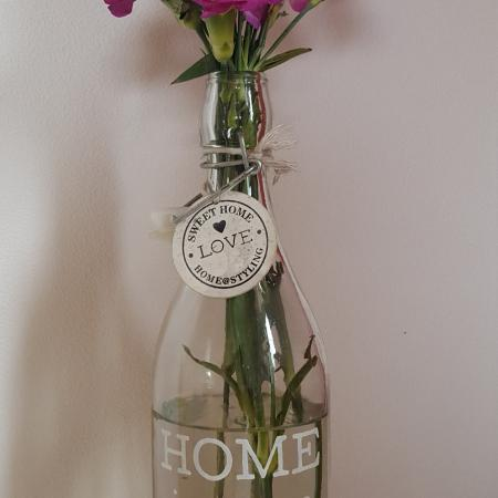 Sometimes all you need is a bottle with flowers