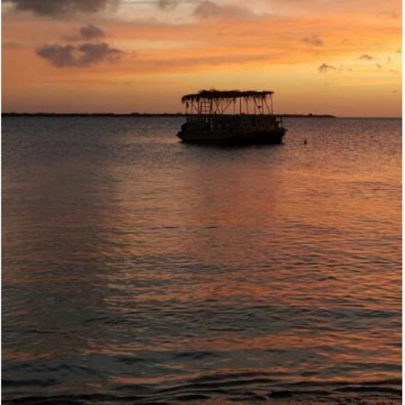 Beautiful sunset on Bonaire
