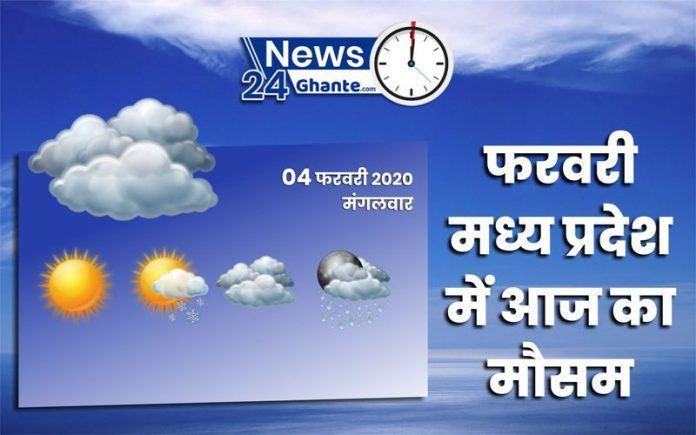 Weather Report | Mausam ki Jankari : know how the weather forecast will be in the districts of Madhya Pradesh on February 04. | News24Ghante.com