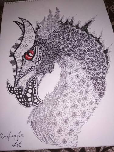 My Attempt at Zentangle