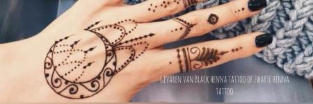 Gevaren van Black henna tattoo of zwarte henna tattoo
