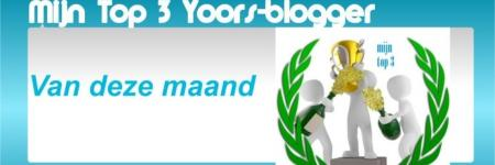 Top 3 Yoors-bloggers van april