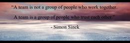 """A team is not a group of people who work together. 