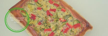 Pizza courgette gorgonzola