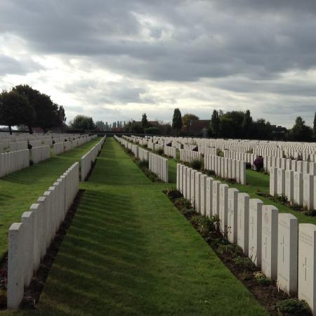 Tyne Cot Cemetery in Passendale