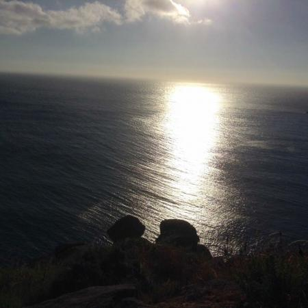 Zonsondergang in Cabo Finisterre