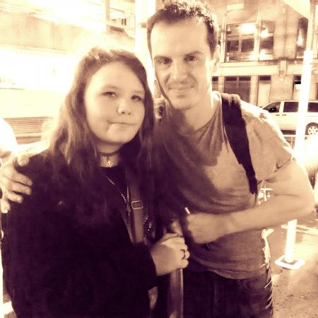 I saw andrew scott in real life!
