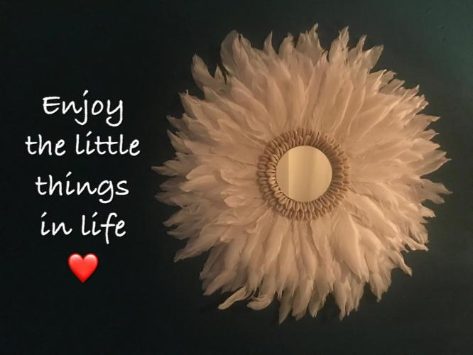 Enjoy the little thing in life