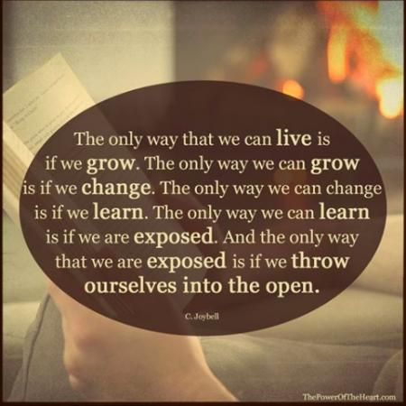 Live is to throw ourselves into the open