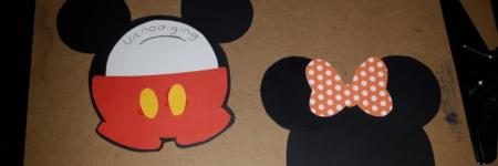 Mickey en Minnie Mouse Uitnodigingen