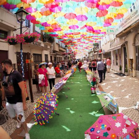 Agueda portugal umbrellas 2019