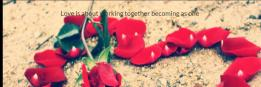 Love is about working together becoming as one