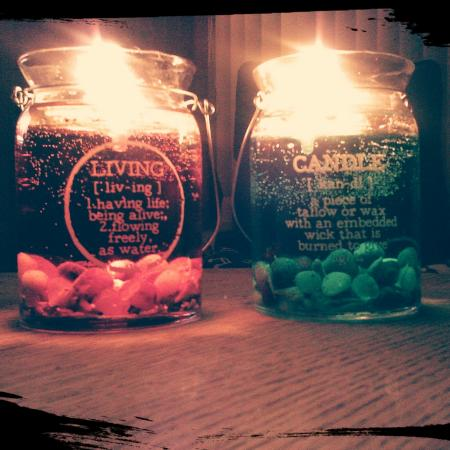 Loving the candles in the night....