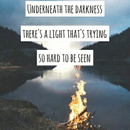 Underneath the darkness....