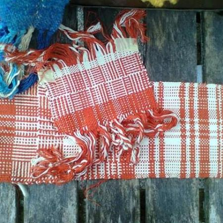 These are my very first own weaving samples, I made 😉 Woven by Chuen