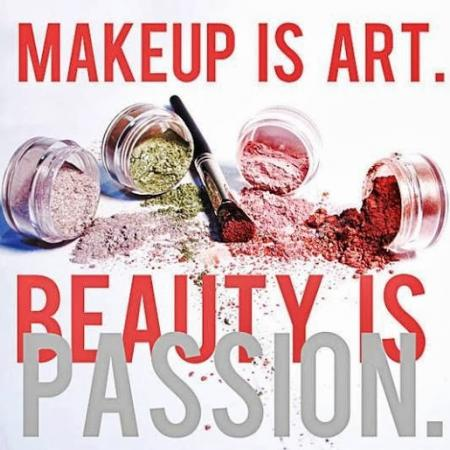 Makeup is art en beauty is Passion