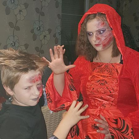 Kids make up Halloween