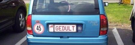 Gepersonaliseerde nummerplaten#HILARISCH