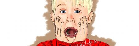 Cartoon portret van Macaulay Culkin (Home Alone)