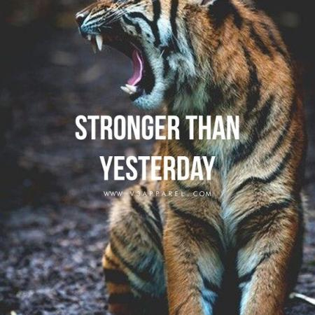 Stronger than yesterday!