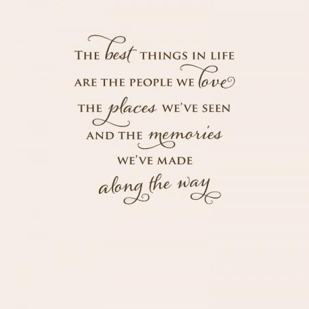 The best things in our life