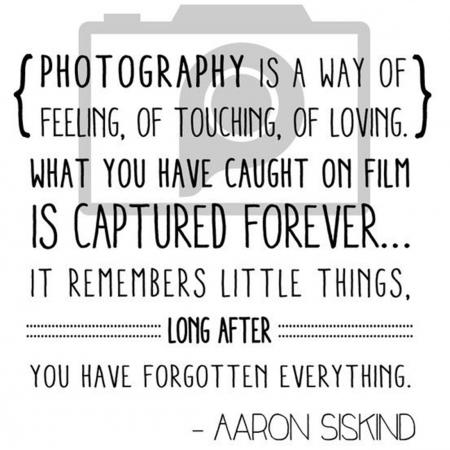 Photography is a way of feeling