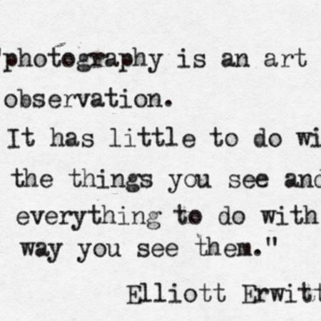 Photography is an art of observation.