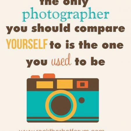 The only photographer you should compare yourself to