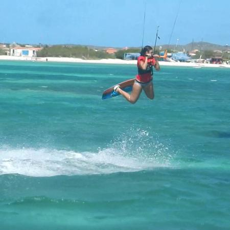 Kitesurfen .... yep that's me :-)