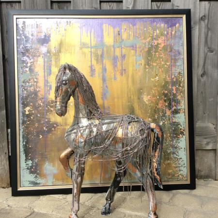 Horse of LillacVille - Recycle  Art Damman