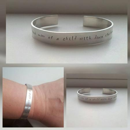 -- Proud mom of a child with down syndrome --  Armband