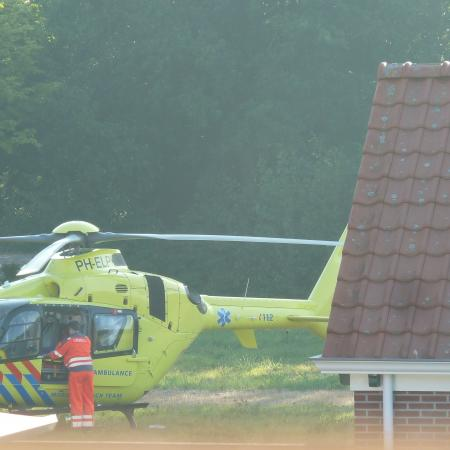 Traumahelikopter in de achtertuin