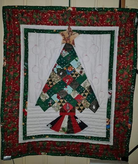 How to make a Prairie Point Christmas Tree quilt