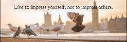 Live to impress yourself; not to impress others.
