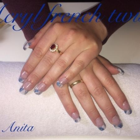 French twist acryl nagels