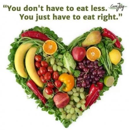 You don't have to eat less, you just have to eat right.