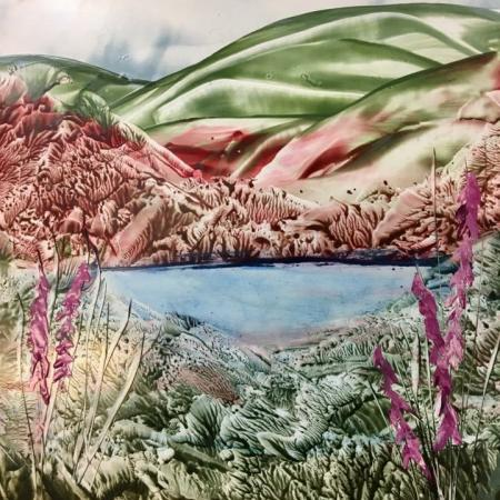 Encaustic Art landschap 1