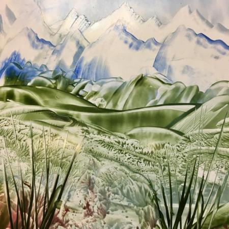Encaustic Art landschap 3