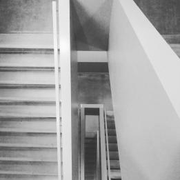 Black and white stairs