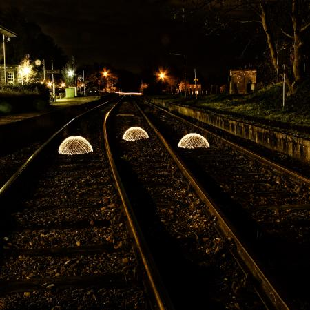 Orbs, part 2... invading the rails