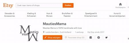 Mauties Mama is Etsy gestart!