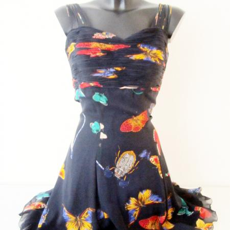 Versace silk insects dress