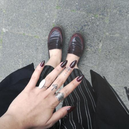 When my nails match my shoes