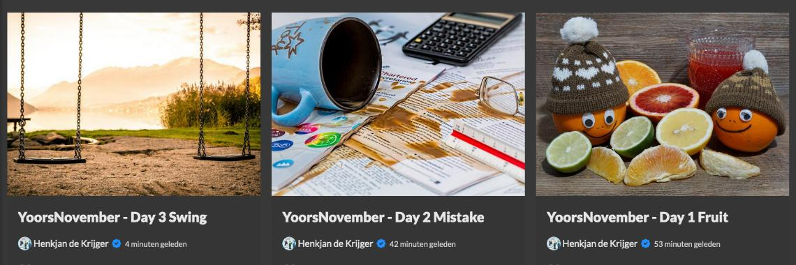 Inspiration & Examples: How to make a post for YoorsNovember?