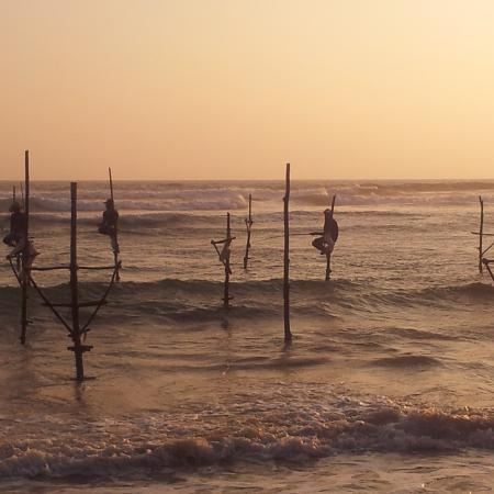 Sri Lanka - traditional fishing men